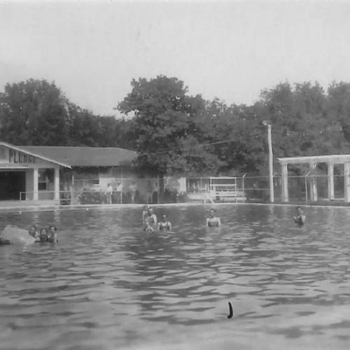 Oakdale swimming pool  in the early days.