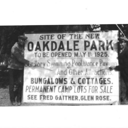 Opening Days of Oakdale Park